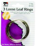 "CLI LOOSE LEAF RINGS 2"" 3/CD"
